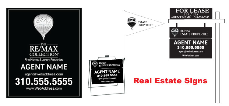 Real Estate Signs, Flags and Frames