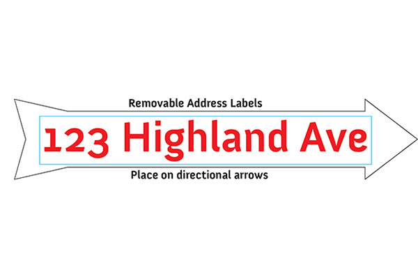 Address Arrow Sticker